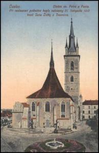 Čáslav kostel 1914